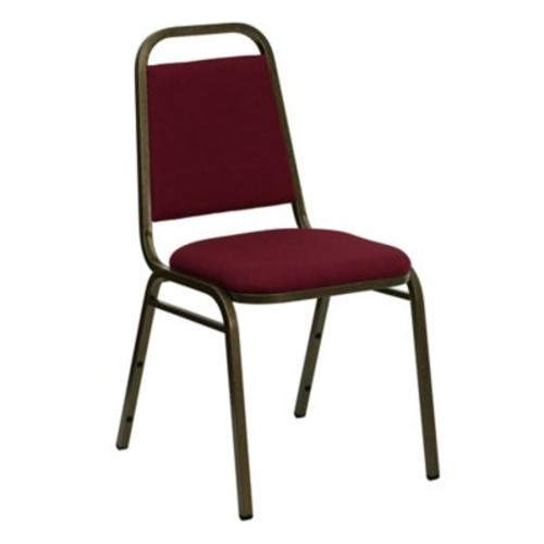 Flash Furniture Trapezoid Back Banquet Chair in Burgundy
