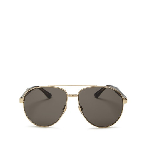 GUCCI Engraved Aviator Sunglasses, 61Mm