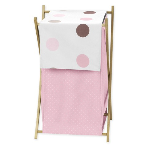 Sweet Jojo Designs Mod Dots Pink Collection Laundry Hamper