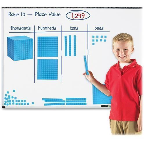 Learning Resources LER6366 Giant Magnetic Base Ten Set - Skill Learning: Visual Interpretation - 121 Pieces