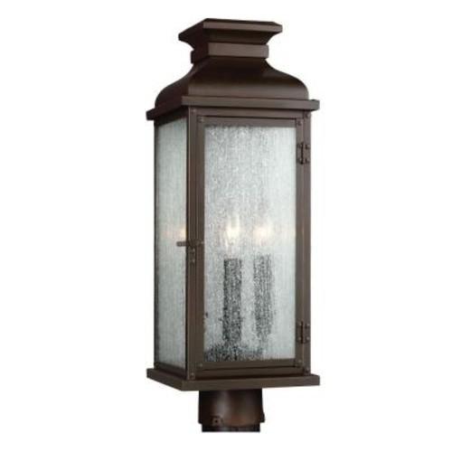 Feiss Pediment 2-Light Dark Aged Copper Outdoor Post Top Light