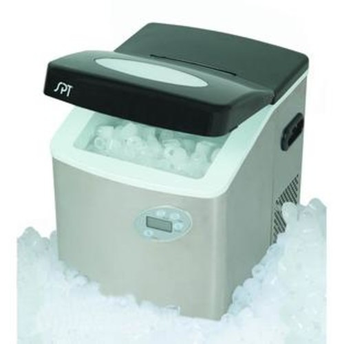 SPT Portable Ice Maker with Stainless Steel Body