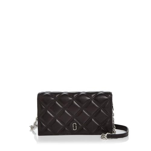 MARC JACOBS Double J Matelassé Leather Chain Wallet