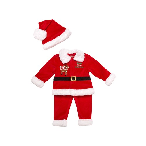 Rudolph Baby's First Christmas Santa Suit & Stocking Hat Set (Baby Boys)