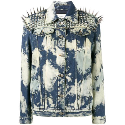 GUCCI Spike Embellished Denim Jacket