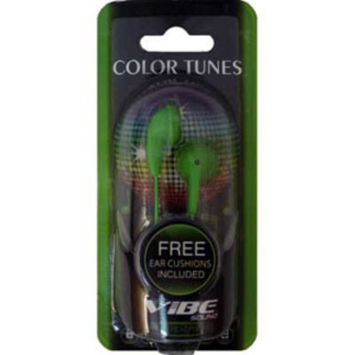 Vibe VS-120 Green Stereo Earbuds