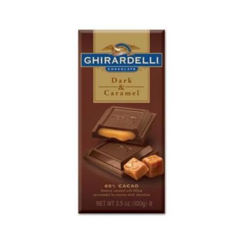 GHIRARDELLI: Prestige Dark Chocolate w/ Caramel Filling Bar: 12 Count