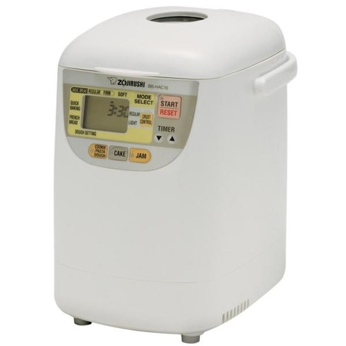 Zojirushi BB-HAC10 Home Bakery 1-Pound-Loaf Programmable Mini Breadmaker [White, 1 LB]