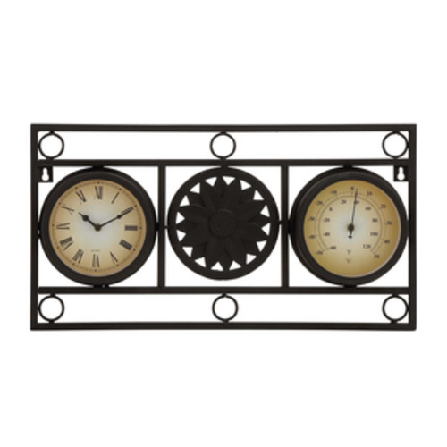Studio 350 Garden Accents Metal 13-inch Hook Clock