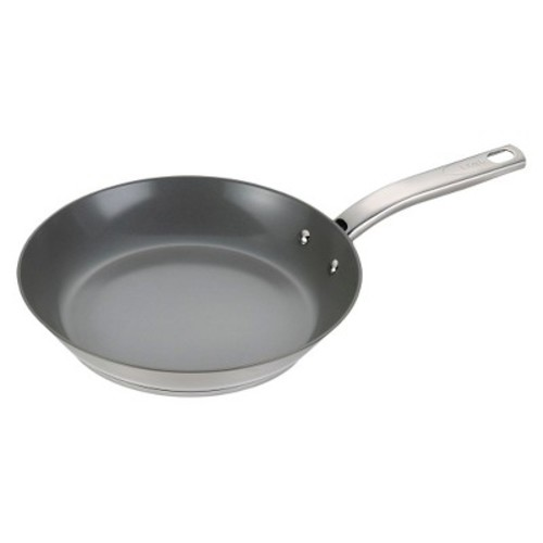 T-fal Precision Ceramic Stainless Steel C71807 PTFE-free PFOA-free Dishwasher Safe Cookware 12 Fry Pan Silver
