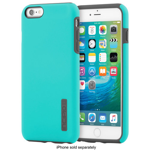 Incipio - DualPro Case for Apple iPhone 6 Plus and iPhone 6s Plus - Turquoise/Charcoal