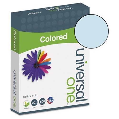 Universal Premium Colored Copier/Laser Printer Paper, 8 1/2 x11, Blue, 500 Sheets/Ream (UNV11202)