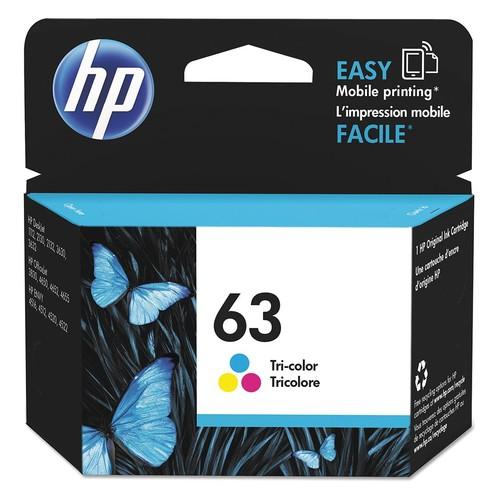 HP Ink Cartridge, No. 63, Tri-Color