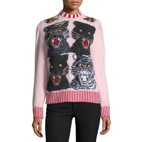 GUCCI Tiger Crewneck Sweater