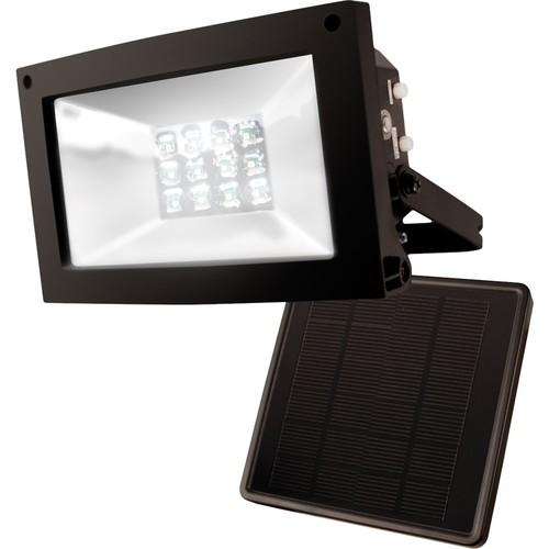 MAXSA Innovations - Solar-Powered Floodlight - Black