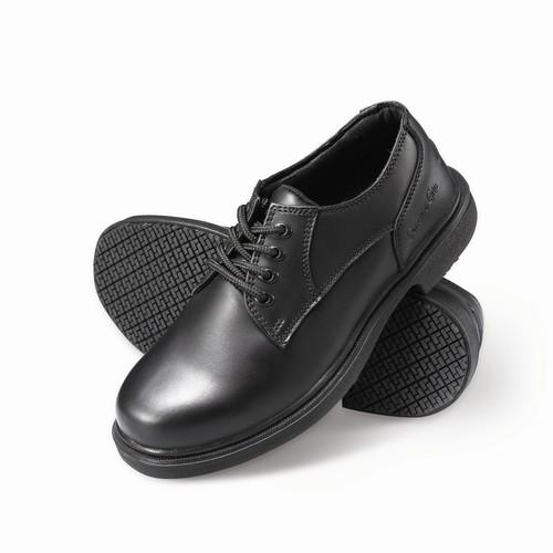Genuine Grip Men's Slip-Resistant Oxfords Work Shoes #7100 Wide Width Available - Black [Width : Wide]