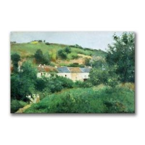 Trademark Fine Art 22 in. x 32 in. The Path in the Village Canvas Art