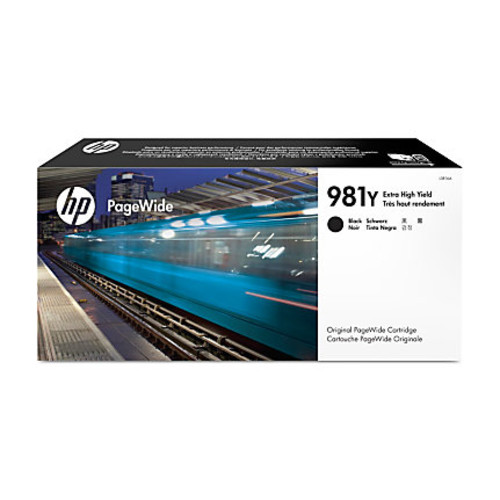 HP PageWide 981Y Extra-High-Yield Ink Cartridge, Black, L0R16A