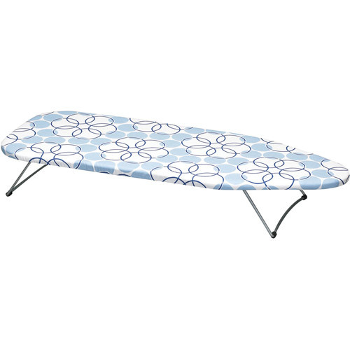 Household Essentials 122101 Small Tabletop Ironing Board with Folding Legs - Magic Rings Cover and Pad