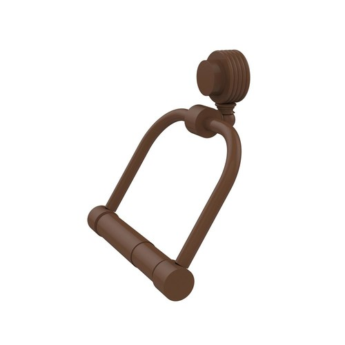 Allied Brass Venus Collection Single Post Toilet Paper Holder with Groovy Accents in Antique Bronze