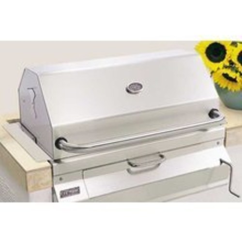 Charcoal Legacy Built In Grill (Grill w 30 in. Smoker Hood)