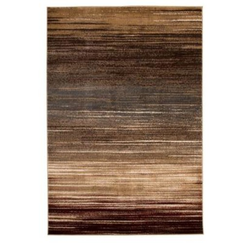 Lavish Home Opus Abstract Stripes Cream 3 ft. 3 in. x 5 ft. Area Rug