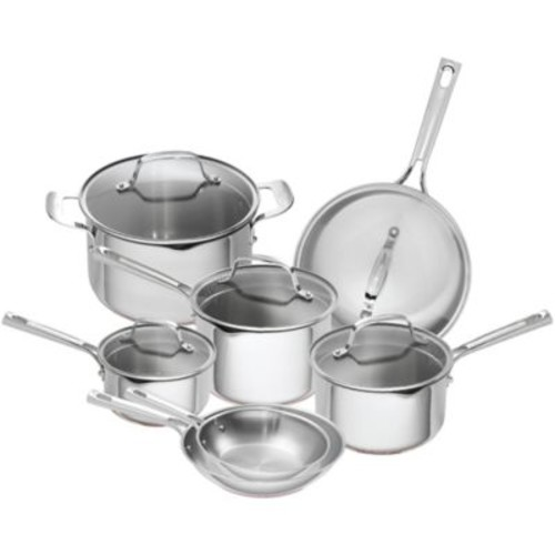 Emeril 12-Piece Stainless Steel and Copper Core Cookware Set