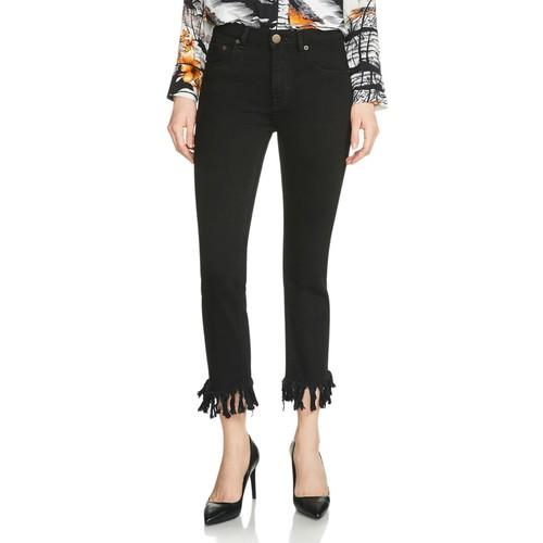 MAJE Panako Cropped Jeans In Black