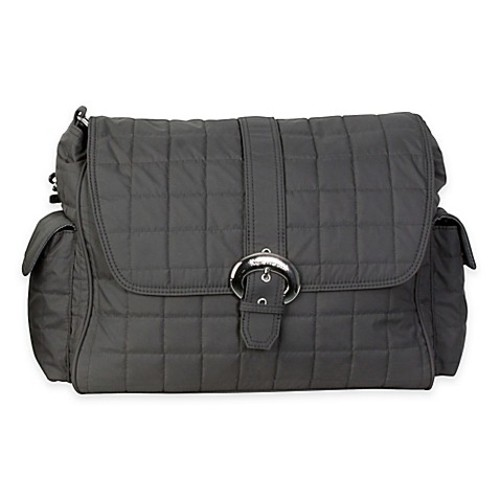 Kalencom Quilted Buckle Diaper Bag in Charcoal