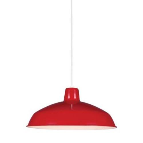Sea Gull Lighting Painted Shade 14-Watt Red Integrated LED Pendant