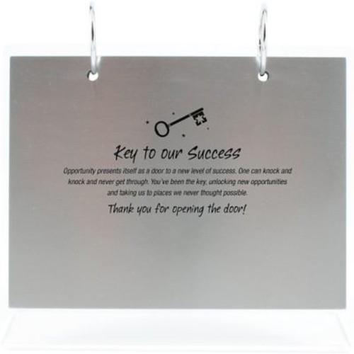 Silver Photo Flip Frame, Key to Success