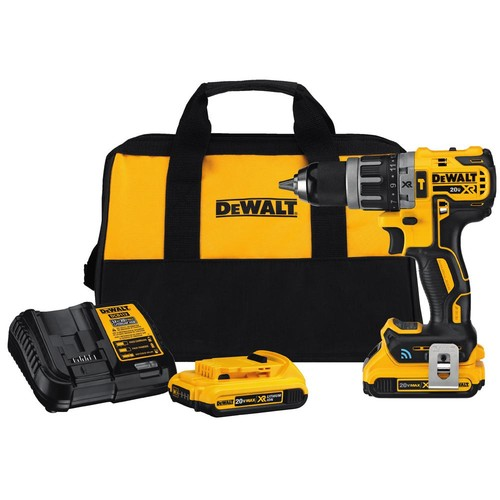 DEWALT 20-Volt MAX XR with Tool Connect Brushless Lithium-Ion Cordless Compact Hammer Drill/Driver Kit w/ Batteries and Charger