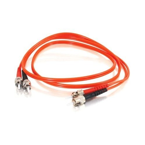C2G/Cables to Go 11090 ST-ST 50/125 OM2 Duplex Multimode Fiber Optic Cable (TAA Compliant) Orange (1 Meter/3 Feet)