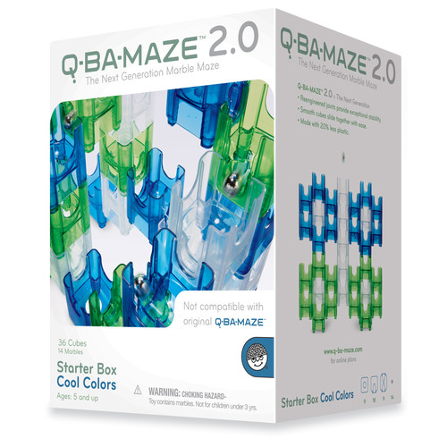 MindWare Q-Ba-Maze 2.0 Starter Box - Cool Colors: 50 Pcs