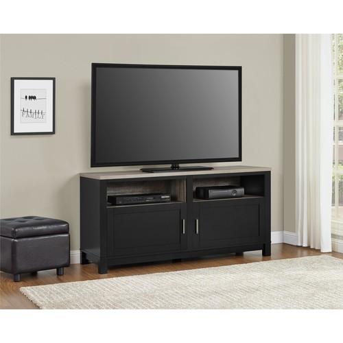 Dorel Home Furnishings Carver Black/Sonoma Oak TV Stand