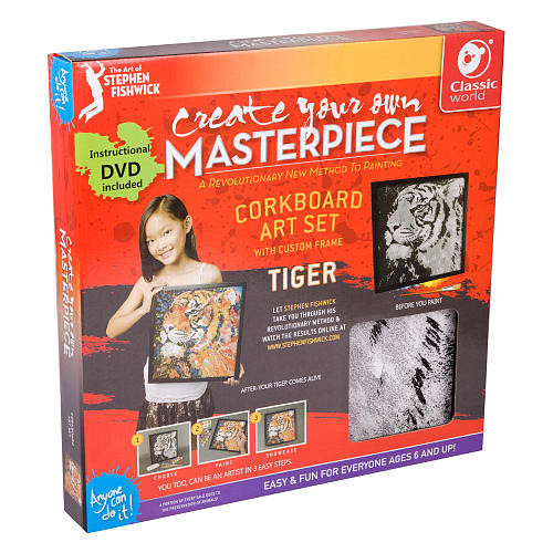 Classic World Corkboard Art Set - Tiger