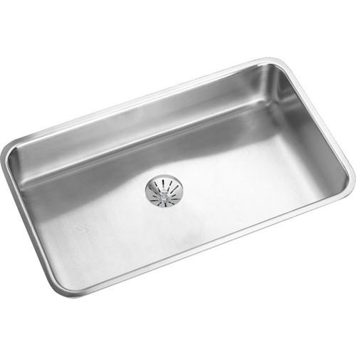Elkay Gourmet Lustertone Stainless Steel Single Bowl Undermount Sink Kit - STAINLESS STEEL