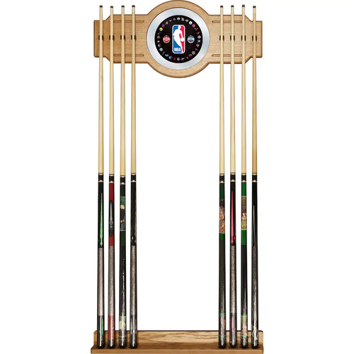 Logo Billiard Cue Rack with Mirror