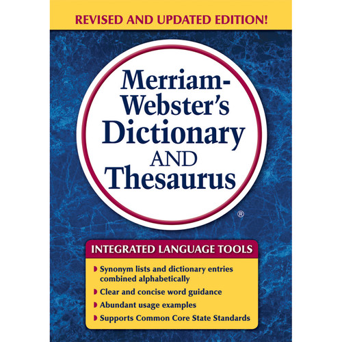 Merriam-Webster Dictionary & Thesaurus Trade Paperback Size