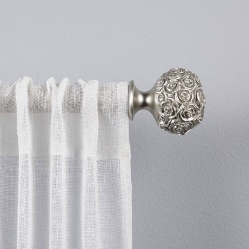 Drapery Rod Set Exclusive Home Matte Silver