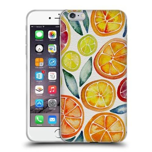 Official Cat Coquillette Fruits & Veggies Citrus Slices Soft Gel Case For Apple Iphone 6 Plus / 6S Plus