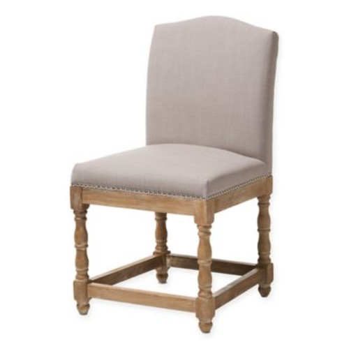 Baxton Studio Paige Upholstered Dining Chair in Beige/Natural