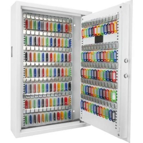 BARSKA 144-Key Position Steel Wall Safe with Digital Keypad, White
