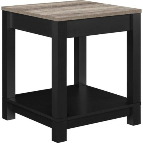 Carver End Table - Black/Sonoma Oak - Altra