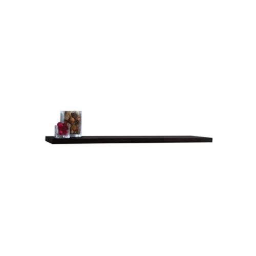 Floating Wall Shelf in Black Finish (48 in. W x 7.75 in. D x 1.25 in. H)