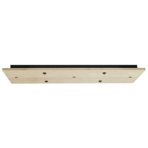 Rectangle Wood Multi-Light Canopy [||color : Maple; Finish : Bronze; Light Option : Halogen and Xenon]