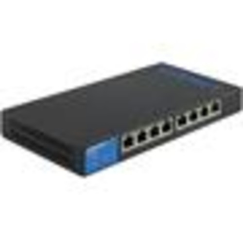 Linksys LGS308P 8-port smart Gigabit Ethernet switch with PoE+ support