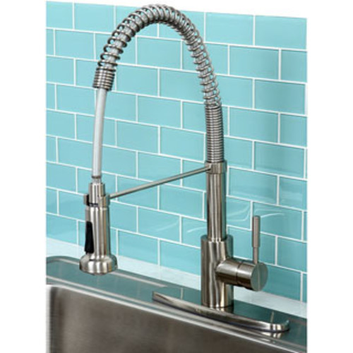 Cadell 70600 Brushed Stainless Steel Single Handle Kitchen Faucet