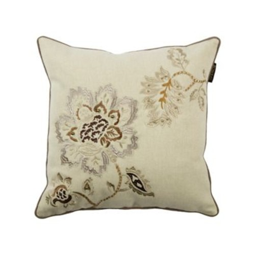 Bombay Declan Bloom 18-Inch Square Throw Pillow in Off White