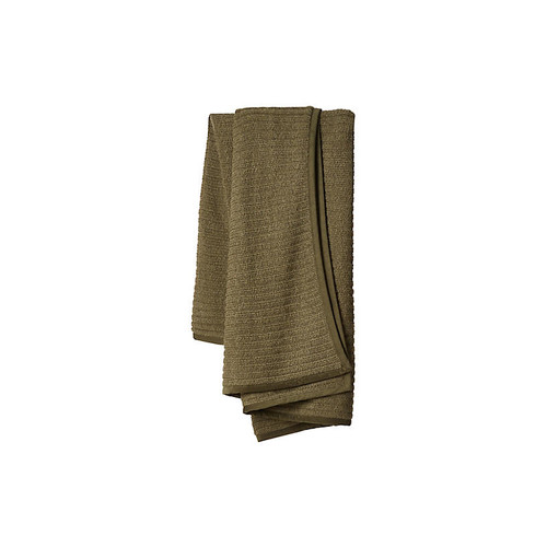 Rib Alpaca Wool Throw, Hunter